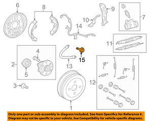 2010 toyota prius wiring diagram abs toyota oem brake rear abs sensor wire bolt 90119a0213 ebay  toyota oem brake rear abs sensor wire