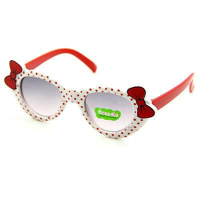 Lovely Baby Boys Girls Kids Sunglasses Glass Child Goggles Bow Eyewear UV 400