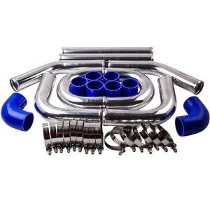 UNIVERSAL-TURBO-BOOST-INTERCOOLER-PIPING-PIPE-KIT-2-5-034-INCH-64mm-Aluminum-8PCS
