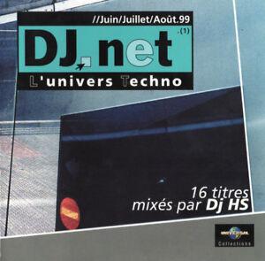 Compilation-CD-DJ-Net-L-039-Univers-Techno-France-EX-EX