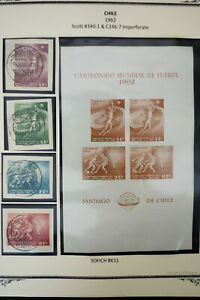 Chile-1960-039-s-Stamp-Sheet-Collection