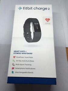 Fitbit-Charge-2-Heart-Rate-Fitness-Tracker-Wristband-Black-FB407BKL-Like-New