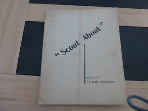 VINTAGE-THEATRE-BROCHURE-BRACKNELL-BERKSHIRE-THREE-ARTS-SOCIETY-SCOUT-ABOUT