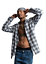 Men-039-s-Casual-Plaid-Flannel-Long-Sleeve-Button-Down-Shirt-Buffalo-Plaid-S-2XL thumbnail 2