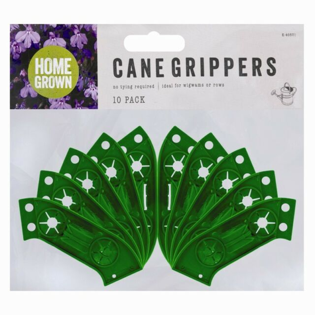 527e5cfb945e 10 Garden Cane Grips Grippers For Rows or Wig Wams Flowers   Plants Bamboo