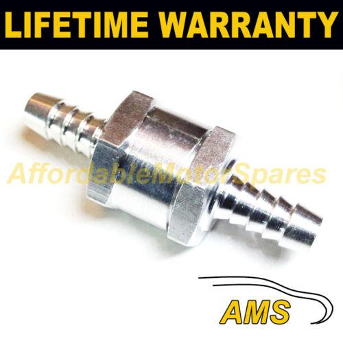 """válvula de retención Gasolina Diesel Petróleo Agua 8 Mm 5//16 /""""una forma de aluminio no medicinales"""
