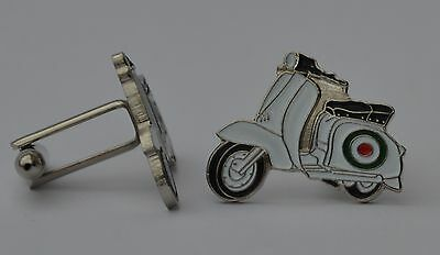 Vespa Shield Mod Scooter Quality Enamel Cufflinks