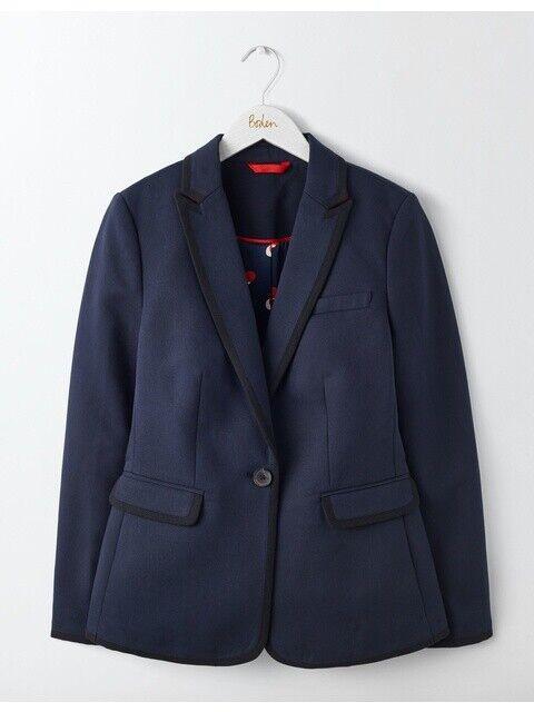 Boden Jacket - Picardy Tipped Blazer - Elegant Navy - NEU - UK 14 EU 42
