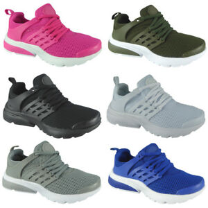 Kids Girls Running Trainers Womens Fitness Gym Sports Comfy Lace Up ... d2104877a