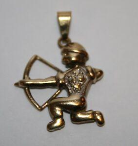 Anhaenger-Sternzeichen-Schuetze-333-Gold-8-kt-Goldanhaenger-Kettenanhaenger-Beads