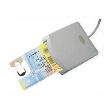 LECTOR DE DNI ELECTRONICO TARJETAS INTELIGENTES USB 2.0 COLOR BLANCO