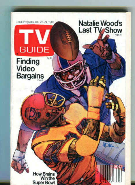 TV Guide Magazine January 23-29 1982 How Brains Win The Super Bowl EX 062816jhe