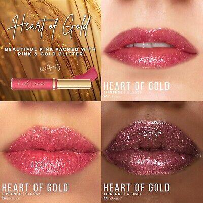 Senegence Prosecco And Heart Of Gold Lipsense Golden Pearl Gloss Get All Three Ebay
