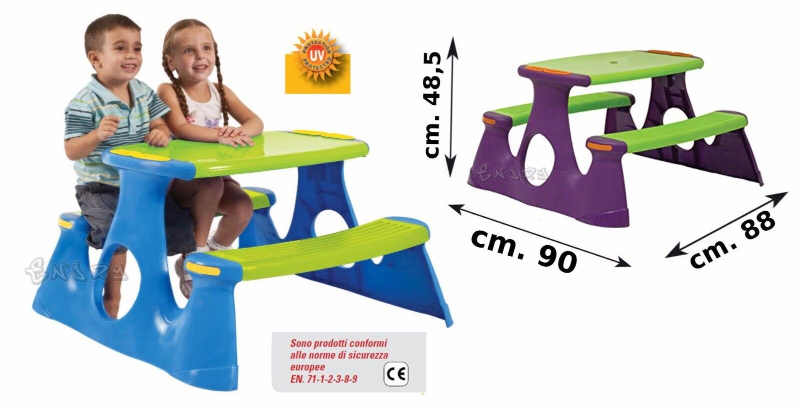 Tavolo per bambini con panche tavolo da giardino tavolo pic nic per 4 bambini