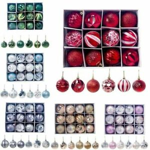 Christmas-Baubles-Xmas-Tree-Ornament-Hanging-Glitter-Ball-Photo-Festive-Decor