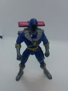 "Mighty Morphin Power Rangers Blue Action Figure 5.5""  Bandai 1999"