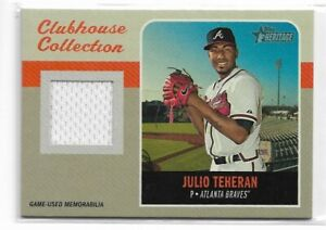 2019 Topps heritage baseball Clubhouse collection relic CCR-JT Julio Teheran