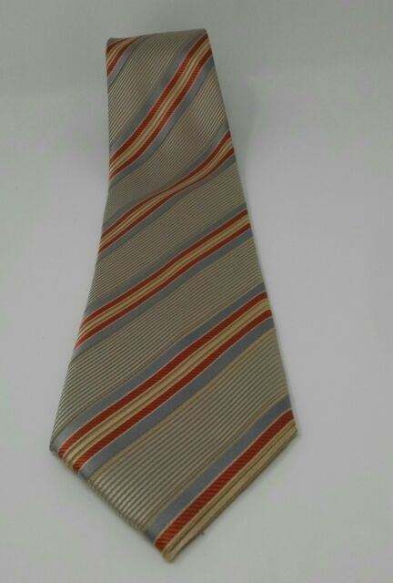 Henry Jacobson Striped Silk Tie