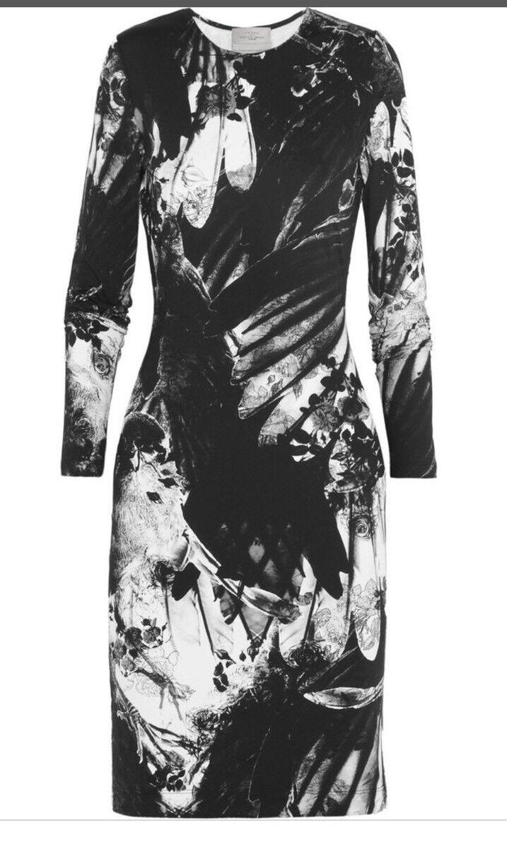 Preen by Thornton Bregazzi Iris Printed Stretch Jersey Dress New M