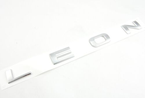 Seat Leon 1m 1p 5f letras cheers emblema logotipo badge cromo Lang