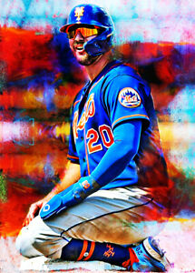 2021 Pete Alonso New York Mets 8/25 Art ACEO Sketch Print Card By:Q