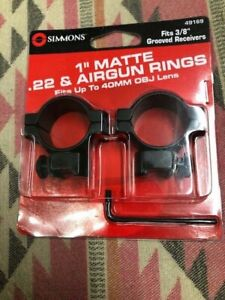 SIMMONS-1-034-Matte-22-amp-Airgun-Rings-Fits-up-to-44mm-OBJ-Lens