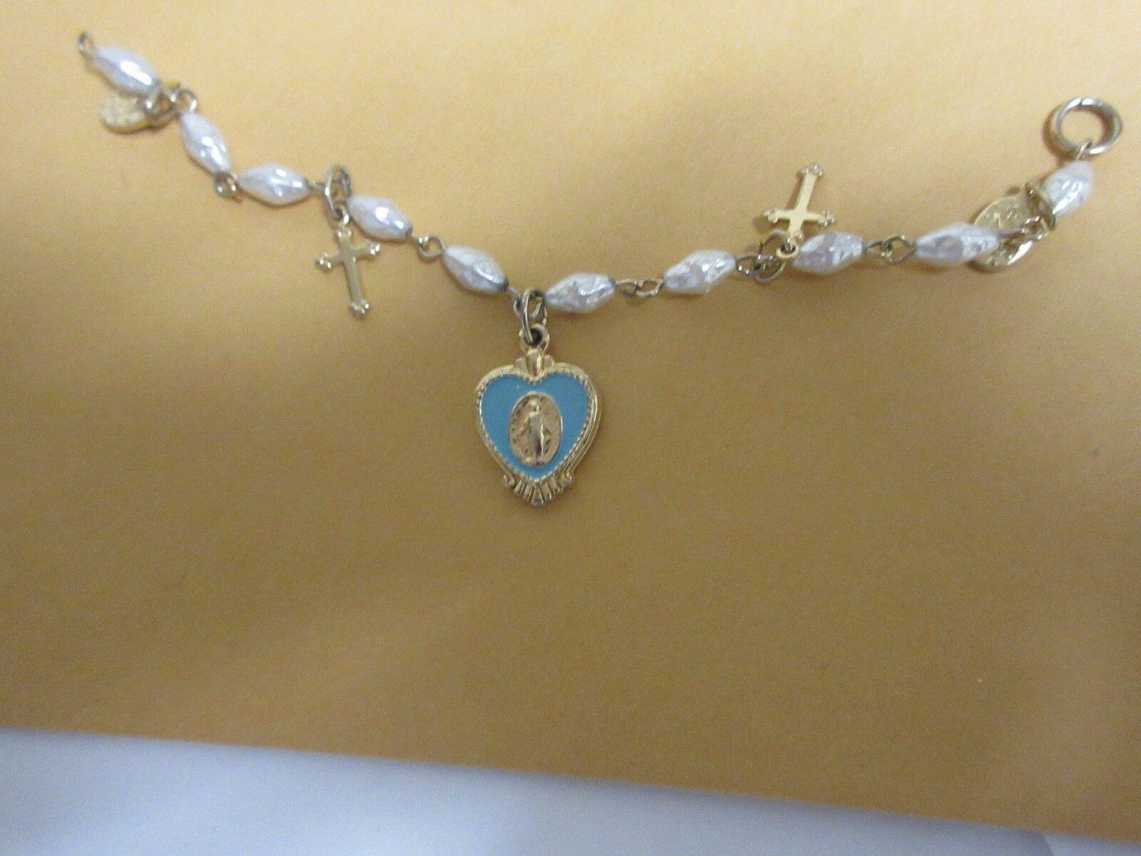 """Costume Jewelry , Vintage ,Religious Bracelet , 6"""""""