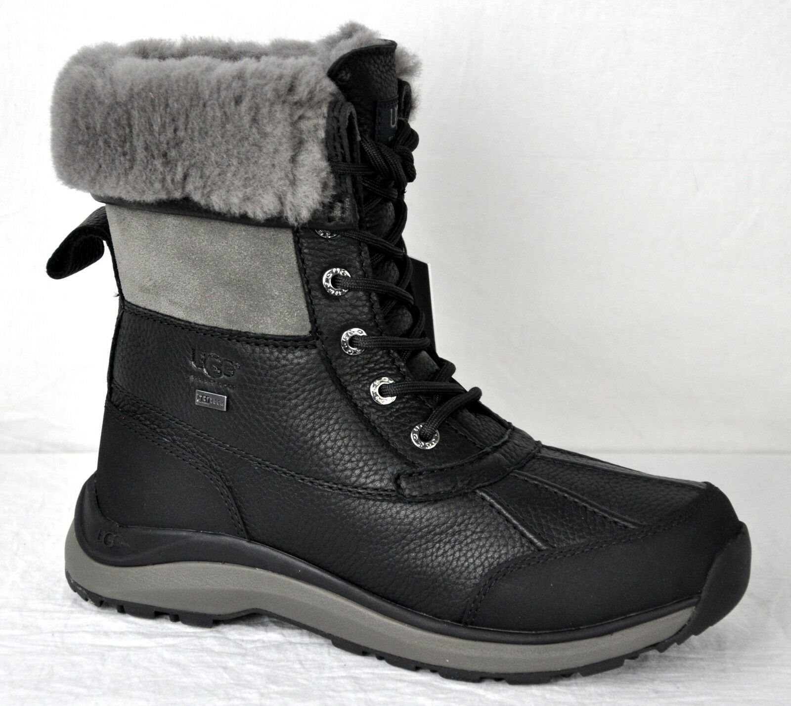 e43b4a774f4 UGG Women's Adirondack III Waterproof Snow Hiking BOOTS 1095141 Black Size 8