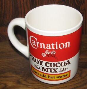 Vintage Carnation Hot Cocoa Mix Ceramic Coffee Cup Mug Rare Ebay
