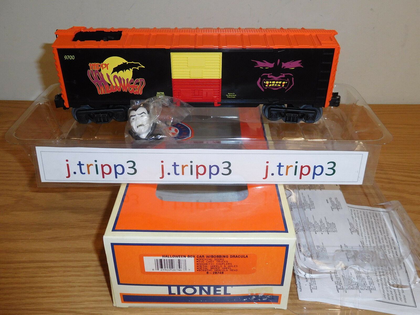 LIONEL 626746 HtuttiOWEEN BOBBING DRACULA VAMPIRE ANIMATED scatolaauto TRAIN O GAUGE