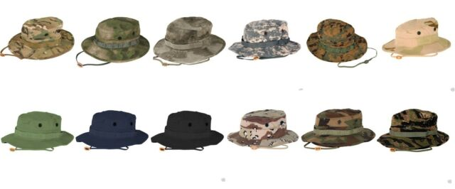 37cd0d0b7c2 Tactical Boonie Hat Propper Bucket Hat Camo or Solid Colors Ripstop Mil-Spec