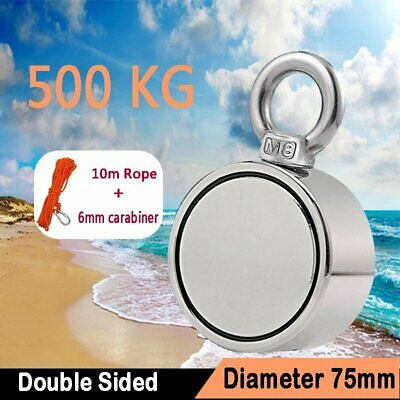 200//300//400//500KG Suchmagnet Neodym-Magnet Doppelseit Bergemagnet Magnetfischen