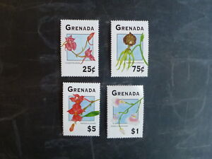 1994GRENADA-ORCHIDS-SET-4-MINT-STAMPS-MNH