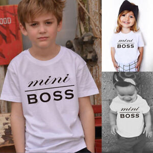 Family-Kids-Clothes-Baby-Boy-Girl-Short-Sleeve-Letter-Print-T-Shirt-Tops-Outfits