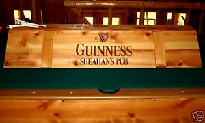 New Custom Guinness Pool Table Light Cue Rack Combo Ebay