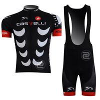 New Mens Road Gear Team Cycling Jersey Bib Shorts Kits Bicycle Shirt Pants Set