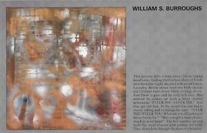 """WILLIAM S. BURROUGHS """"FLUCK YOU! FLUCK YOU!"""" 1988 GALLERY EXHIBITION INVITATION"""