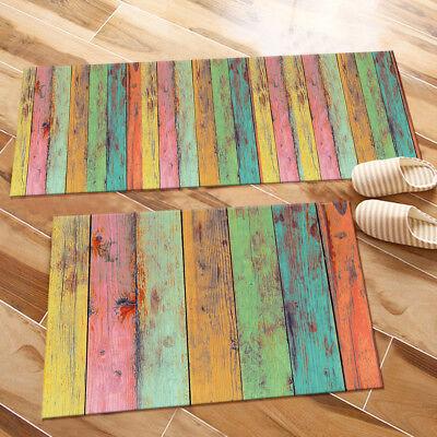 Color Wooden Board Kitchen Mat Bedroom Floor Runner Area Rugs Home Decor Carpet Ebay