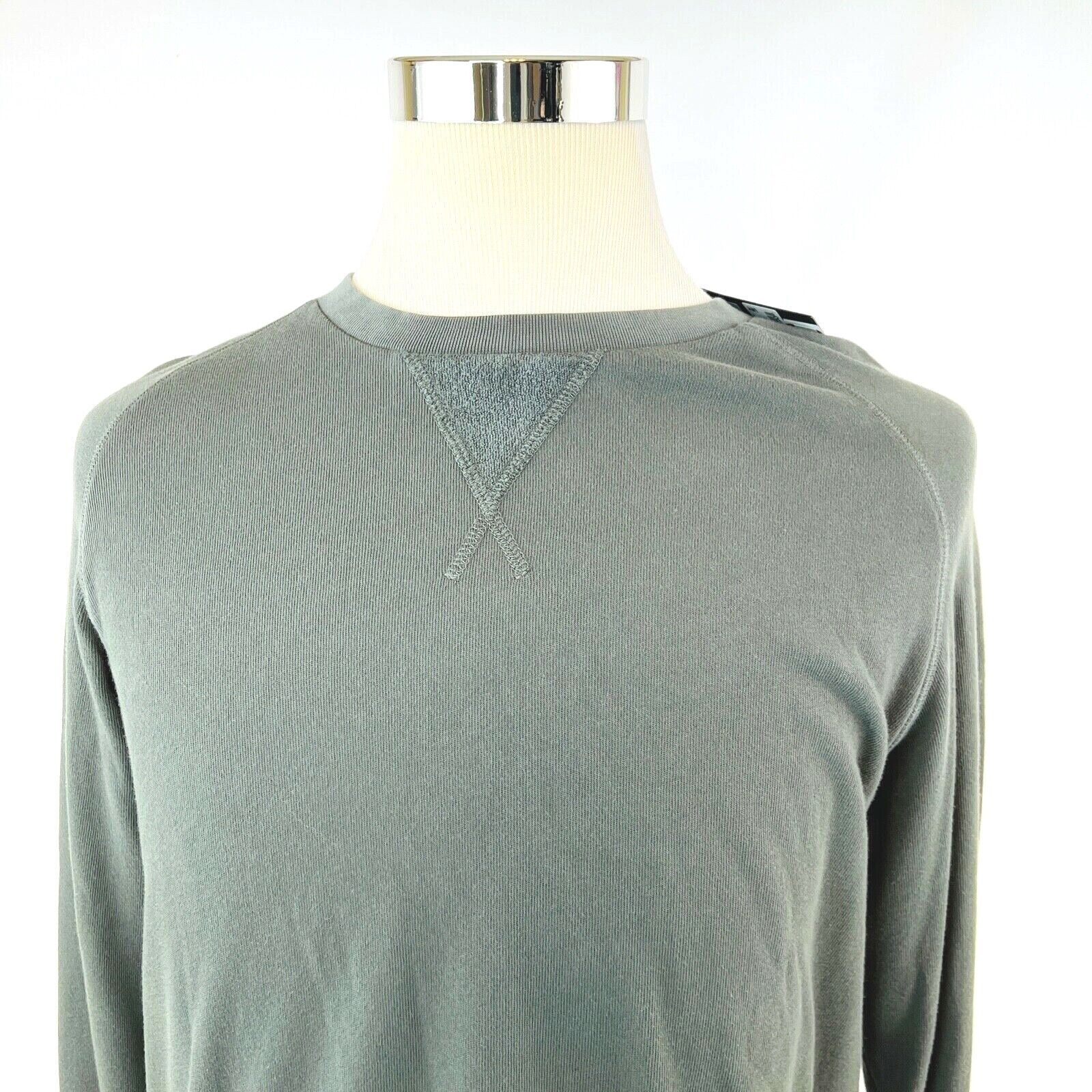 ATM Cotton Terry Garment Washed Crewneck Pullover Sweatshirt Mens Small NWT