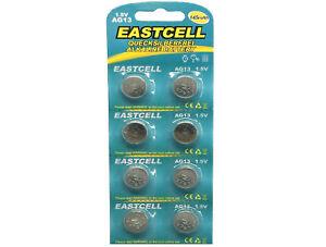 Eastcell Ernst 496x Ag13 Lr44 G13 A76 Gp76a 357 Sr44w 62 Blistercard A 8 Batterien
