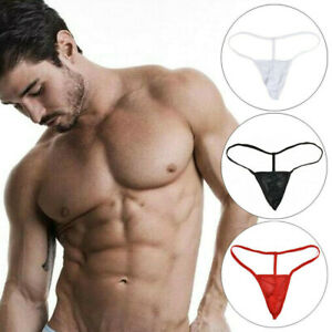 Sexy-Men-039-s-G-string-Thongs-Mesh-Underwear-T-back-Briefs-Bikini-Underpants-1PC