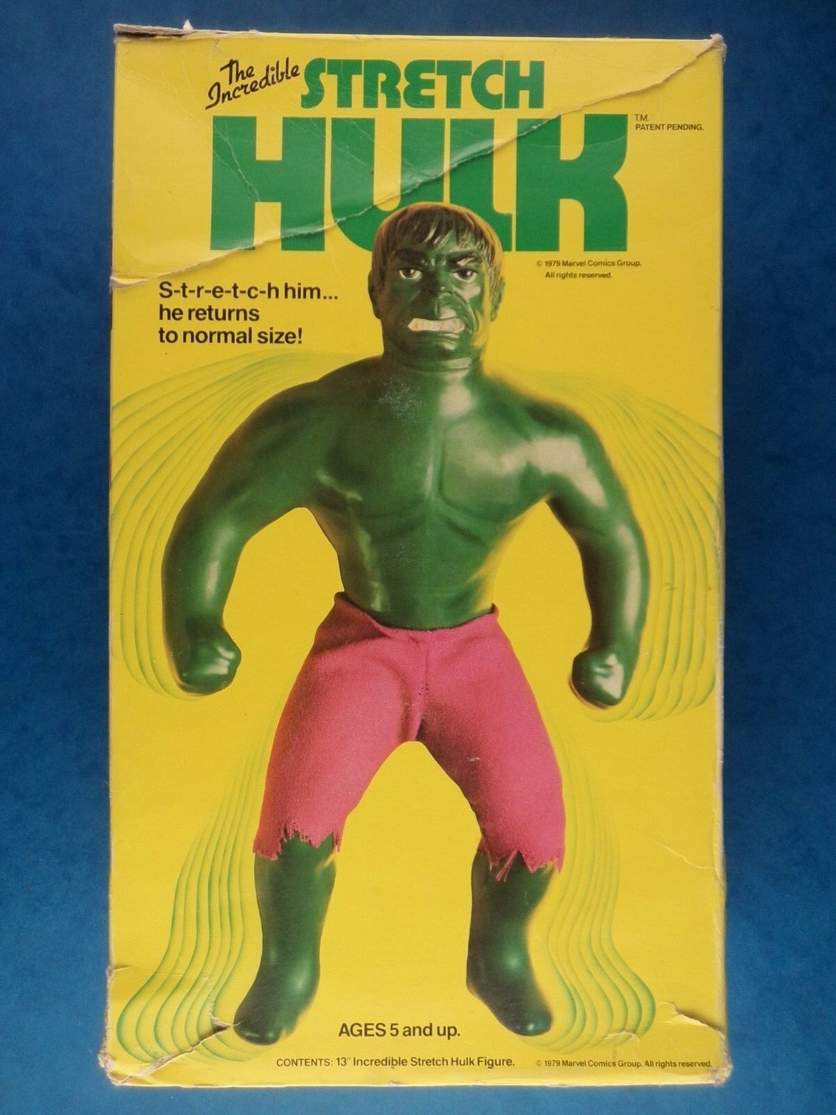 Vintage Figure THE INCROTIBLE STRETCH HULK Denys Fisher Marvel '79 /Needs Repair
