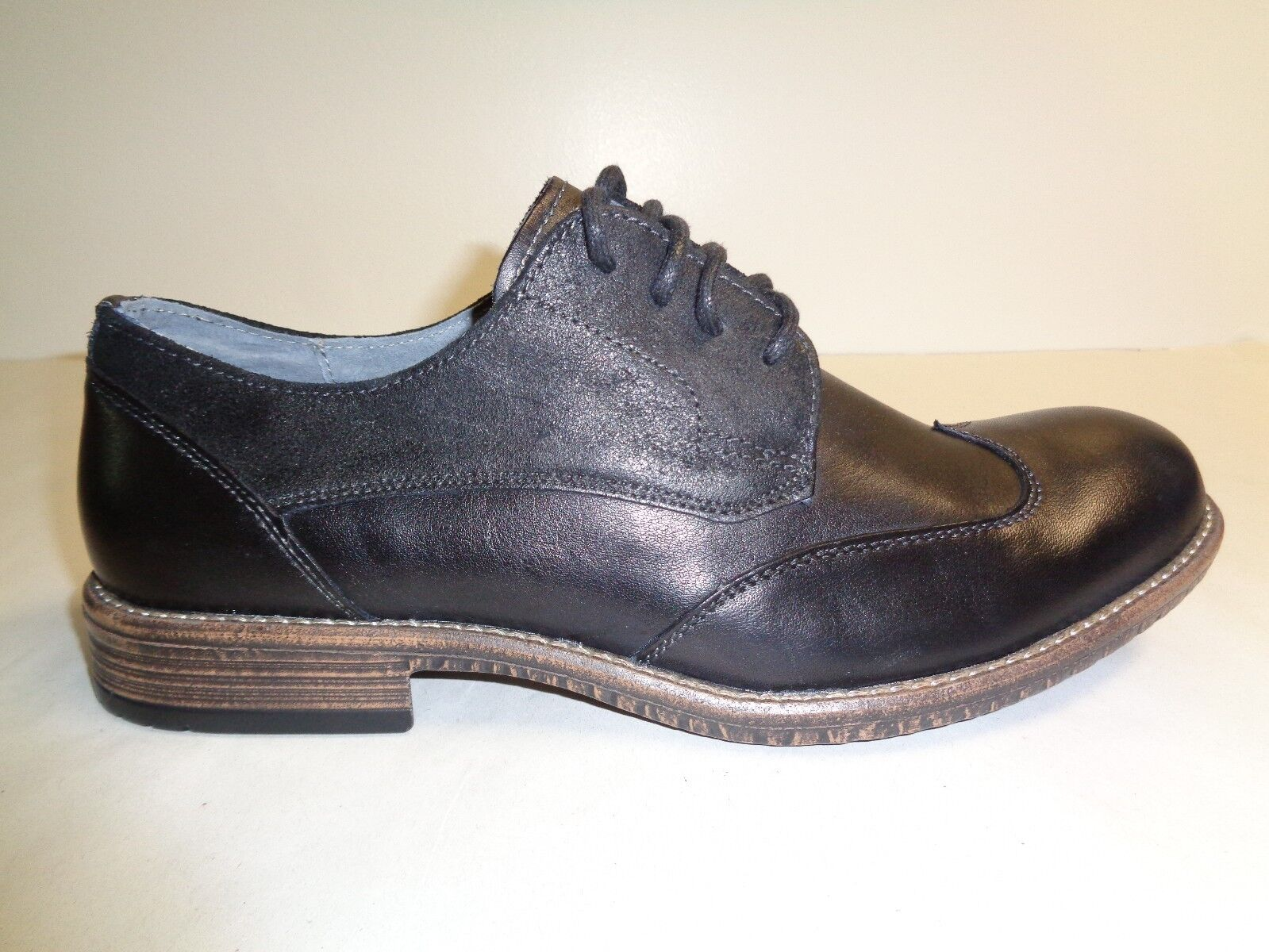 Steve Madden Size 10.5 M GALLONN Black Leather Oxfords New Mens Shoes