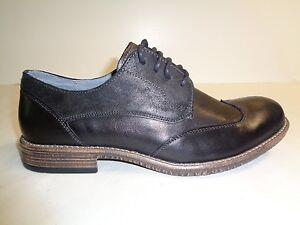 1991056cab9 Steve Madden Size 10.5 M GALLONN Black Leather Oxfords New Mens ...