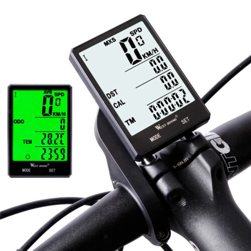 Bike Computer Wired Wireless Bicycle Speedometer Digital Distance Counter