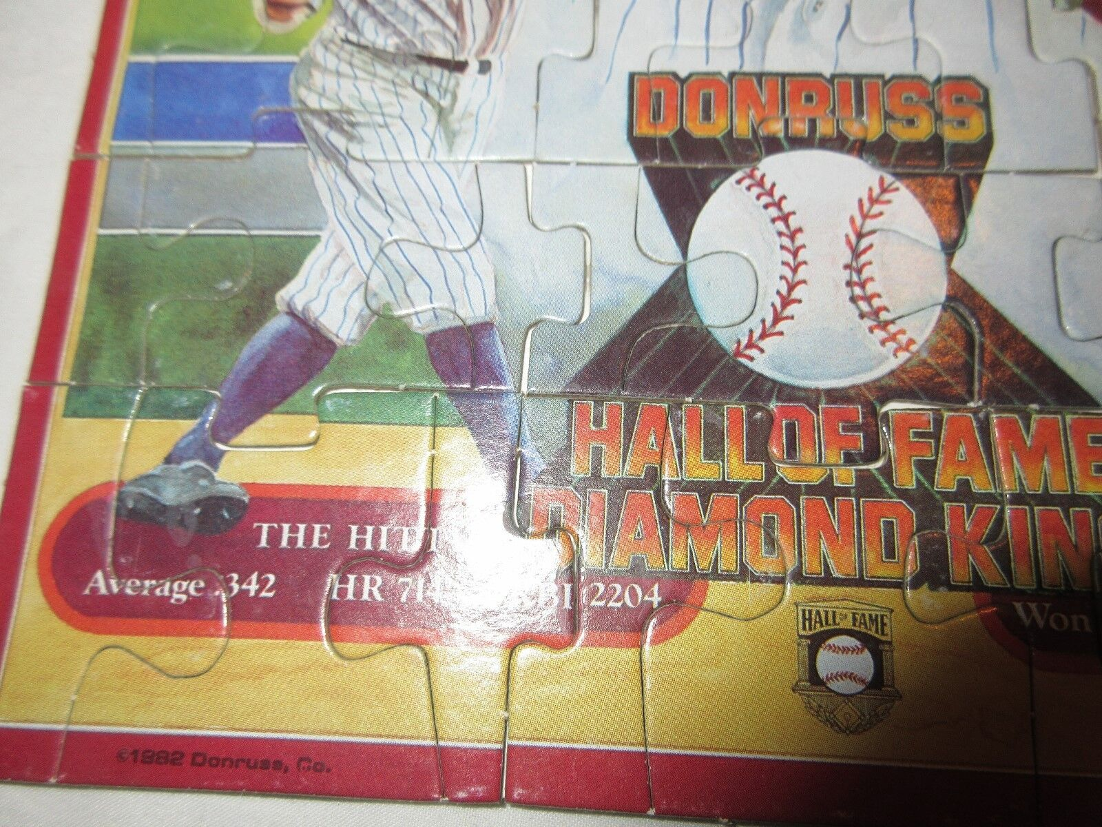 Babe Ruth , Donruss Hall of Fame Diamond King , Puzzle