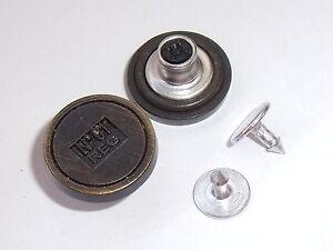 5 Botones Redondos de Madera Plana Con Llanta 2 Agujeros Tamaños 19mm /& 23mm