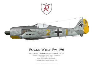 Print-Focke-Wulf-Fw-190A-6-J-Wurmheller-JG-2-Vannes-1943-by-G-Marie