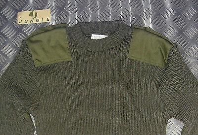Genuine British Army, Green Commando Wool Jumper. Crew Neck V Warm All Sizes NEW