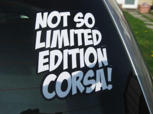 Non è così limitata CORSA novità divertente auto adesivo bianco su nero